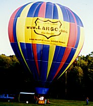 hot air balloon with LARGO sign